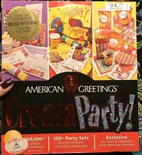 1999 American Greetings Creataparty CD-ROM Party Printing Software Windows 95/98