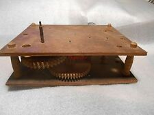 Antique Wood Works Clock Movement Parts