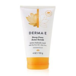 NEW Derma E Anti-Acne Deep Pore Acne Scrub 113g Womens Skin Care