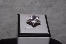Rose DeFrance & White Topaz, Sterling Silver Ring Size 8