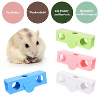 Colorful Wood Seesaw Tunnel Tube Cave Hamster Mice Rodent Hide Play Exercise Toy