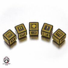 Q-Workshop WORK07 - Black & Yellow D6' Ork Dice (5)