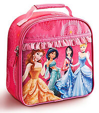 Disney Store Princess Belle Mulan Cinderella Insulated Lunch Bag NEW