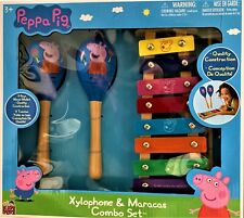 PEPPA PIG Xylophone and Maracas Combo Set toys musical instrument NEW IN BOX