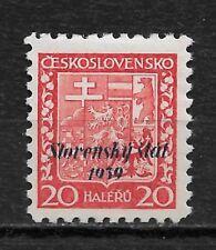 Slovakia 1939, 20h Overprinted Scott # 4,VF Mint Hinged OG, Signed !! (RN-6)