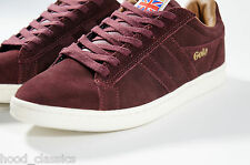New Gola Sneakers Classic Suede Burgundy Low Skater Kicks Athletic Trainer Shoes