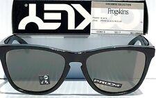 NEW* Oakley Frogskins Black Checkbox Clear Eclipse PRIZM Grey Sunglass 9013-B