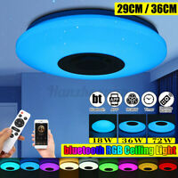 36/72W Dimmable LED RGB Ceiling Panel Light Down bluetooth Music APP Control