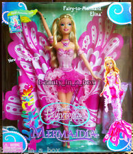 Elina Mermaidia Fairytopia Barbie Doll Fairy-to-Mermaid