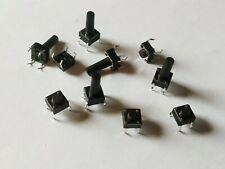 10x DIP 4pin Taster Microtaster Push Button 10 verschiedene Typen 6x6x 4.3 -13mm