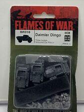 Flames Of War: British: Br310 Daimler Dingo 3 Models Armoured Car Platoon