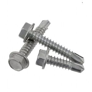 Flange Hex Head Wood Self Tapping Drilling Screws 410 Stainless M4.2 M4.8 M5.2