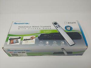 Pandigital Handheld Wand Scanner with Feeder Dock PANSCN09BE New Sealed