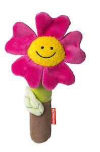 Baby Greifling Blume mit Quietschfunktion / Stofftier Plüschtier Kuscheltier