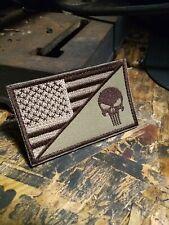 Skull/Flag Velcro® Brand Fastener Patch