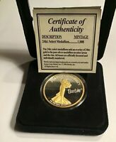Barbie Statue of Liberty 24kt. Select Medallion with authenticity rare, 1troy