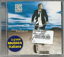 Eros Ramazzotti. Dove c'è musica (1996) CD NUOVO Più bella cosa. Stella gemella