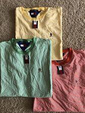 Vintage BNWT Tommy Hilfiger Crest Striped Tshirt Lot XXL 2X