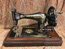 C1893 Singer Hand Crank Sewing Machine with Case