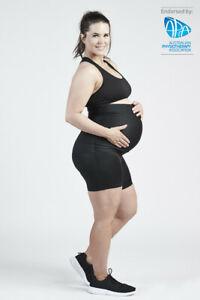 NEW SRC PREGNANCY MINI SHORTS OTB BLACK for Pregnancy Support - All Sizes
