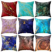 EE_ Stone Pattern Linen Throw Pillow Case Cushion Cover Bed Sofa Car Decor Healt