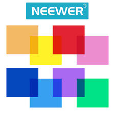"Neewer 12x12""/30x30CM Transparent Color Correction Light Gel Filter Set (8 pcs)"