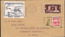 More details for gvi 1937 coronation fdc with 2 lundy stamps [opened top and bottom]