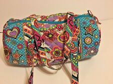 JUSTICE Girls Dance Duffle Bag Overnight Travel Weekender Bright Color Peace