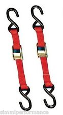 2 x MOTORCYCLE TIE DOWN STRAPS AUTO LOCK Transport Bike Van Trailer 1.8m x 25mm