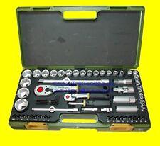 """PROXXON Nr. 23286 Steckschlüsselkasten 65teilig Antrieb 12,5mm 1/2"""" + 6,3mm 1/4"""""""