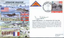JS50 44/8 WWII WW2 Op Dragoon 1944 Colquhoun DFC GM DFM signed cover