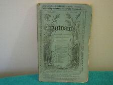 """Vintage Magazine """" Putman's Monthly Magazine """" December, 1869  ~Vintage Ads~"""