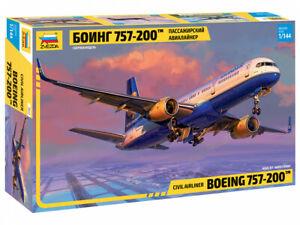 ZVEZDA 7032  CIVIL AIRLINER BOEING 757-200 SCALE MODEL KIT 1/144