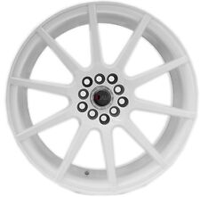 17X9 +38 F1R F17 5X100 WHITE WHEEL FIT VW JETTA PASSAT GOLF R32 GTI FR-S GT86
