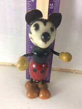 "3-4"" MICKEY MOUSE FUN-e-FLEX WALT DISNEY WOOD & COMPOSITION DOLL J"