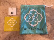Brand New Kendra Scott Drusy Pendant Charm Silver - Comes With Bag And Care Card