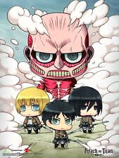 Attack On Titan Chibi Clouds 3D Lenticular Wall Art Poster Picture YA3D0002