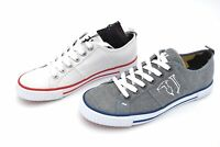 TRUSSARDI JEANS MAN FREE TIME CASUAL SNEAKER SHOES CANVAS CODE 77A00062