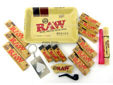 RAW ROLLING TRAY KIT SET KING SIZE PAPERS FILTER ROACH CONE TIPS HOLDER MAT 1970