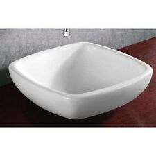 Caracalla Caracallaca4252-Nohole Ca4252-No Hole Ceramic Bathroom Sink-Square and