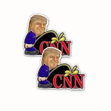 """2x Trump Piss On CNN Bumper Sticker Window Decal Sticker Trump 5""""x7"""" 2pack"""