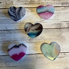 Phone Socket Grip Faux Marble Phone Holder Grip Mount Pop Stand Heart Shaped