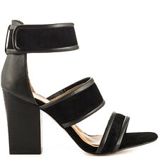 Report Signature Pammy Black Leather Sandal Pump 6M 6 $119. NIB