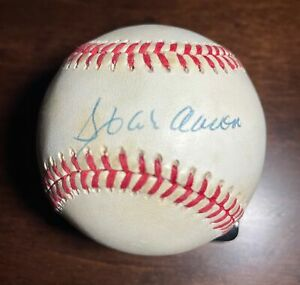 Hank Aaron Signed ONL Baseball PSA COA Atlanta Braves Brewers HOF Auto Autograph