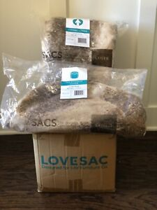 LoveSac CitySac Cover and Squattoman Cover In liger phur