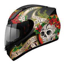 Casco de moto integral MT Revenge Skull & Rose BR