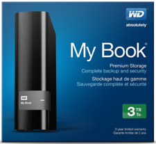 Western Digital My Book 3TB WDBFJK0030HBK-NESN USB 3.0 External Hard Drive Black