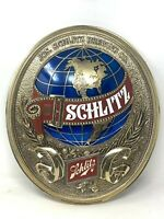 1977 Schlitz Beer 3D Sign Globe Wall Hanging Everbrite Electric Milwaukee Wis