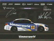 2018 bimmerworld #81 BMW 328i ST signed IMSA CTSC postcard Galante Jones