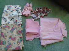 Small lot scrap remnant material & pieces for quilting sewing crafting holiday